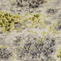 Fiore Fabric - Charcoal/Chartreuse