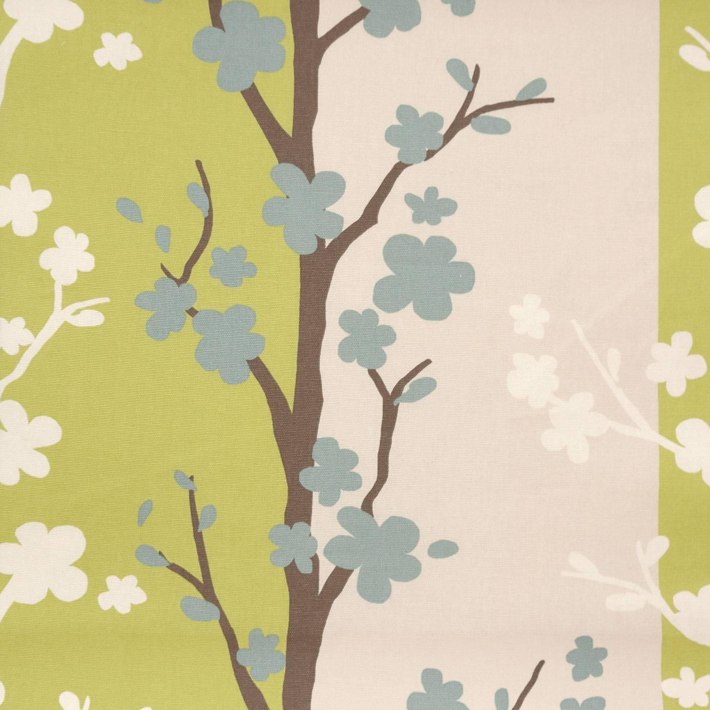 Curtains in Blomma Fabric  Wasabi (F032806)  Studio G Scandia Fabrics Coll # Wasbak Fabriek_155207