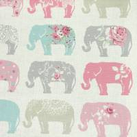 Elephants Fabric - Pastel