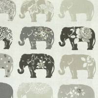 Elephants Fabric - Natural