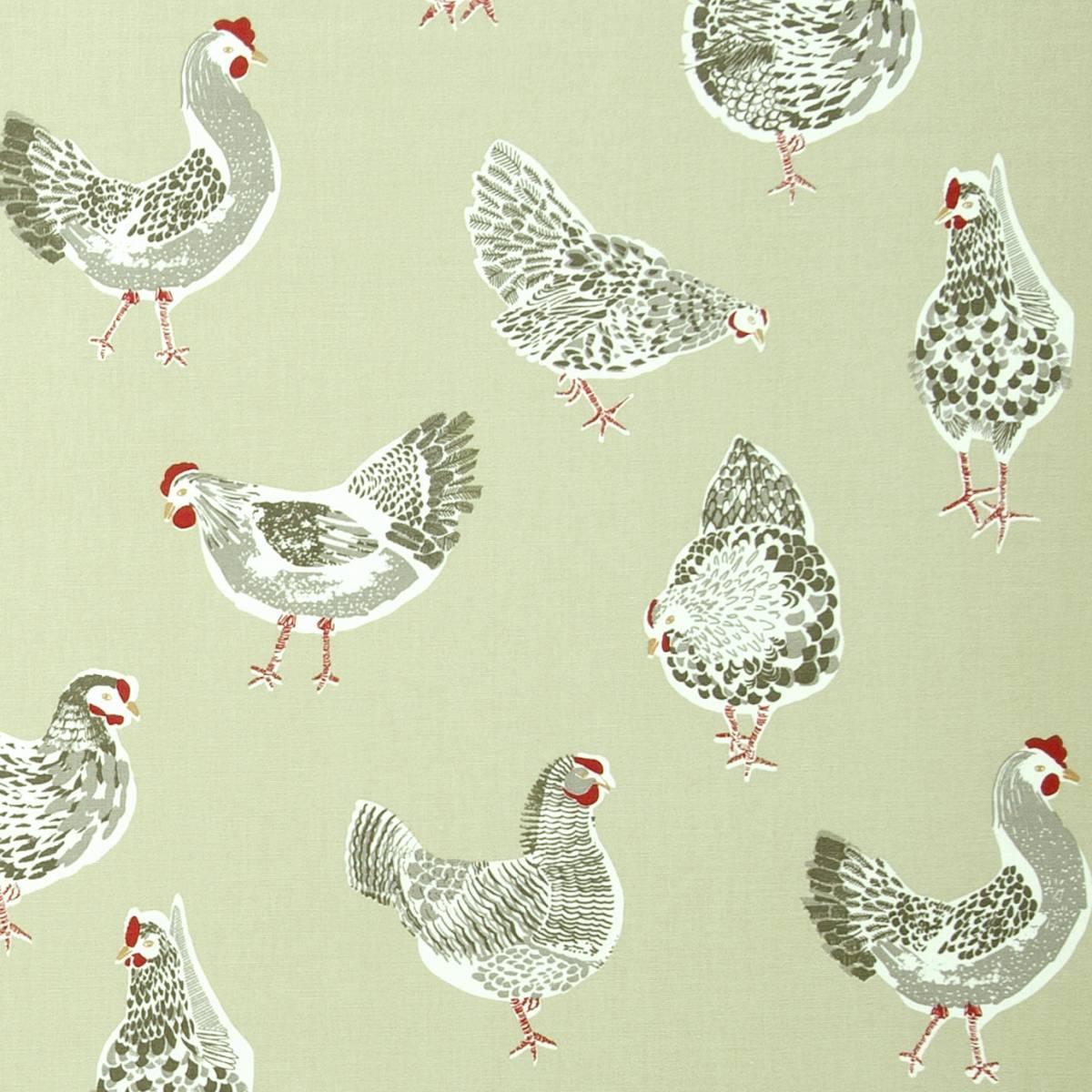 Rooster Fabric Sage F0523 03 Studio G Sketchbook