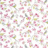 Birdies Fabric - Pink