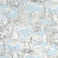 Manor Toile Fabric - Mineral
