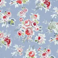Rose Garden Fabric - Chambray