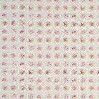 Rose Tile Fabric - Pebble