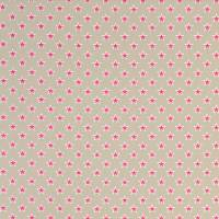 Shooting Stars Fabric - Raspberry