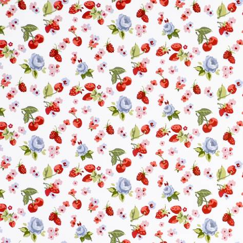 Clarke and Clarke Studio G Rose Garden in Mineral Curtain Upholstery Fabric