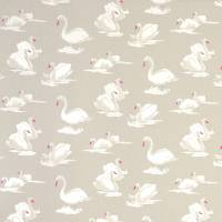 Swans Fabric - Pebble