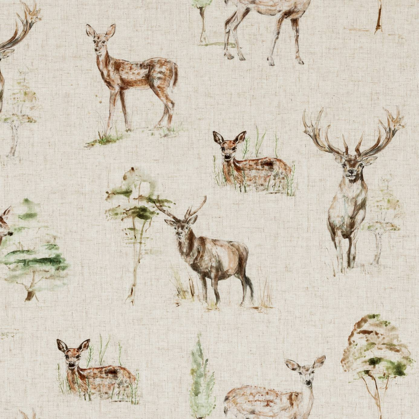 Deer Fabric Linen F0862 01 Studio G Countryside