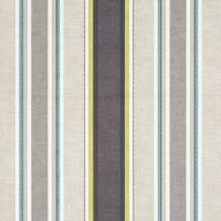 Luella Fabric - Charcoal/Chartreuse
