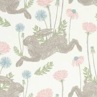 March Hare Fabric - Pastel