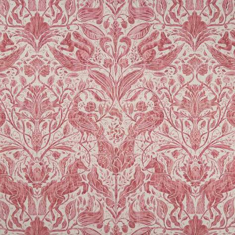 Studio G Country Garden Fabrics Forest Trail Fabric - Raspberry/Cream - F1158/03
