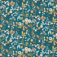 Ashbee Fabric - Denim/Spice