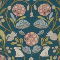Forester Fabric - Teal/Blush