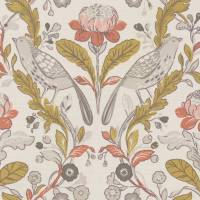 Orchard Birds Fabric - Ochre