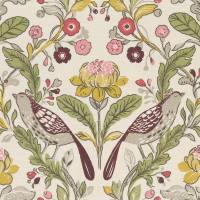 Orchard Birds Fabric - Plum