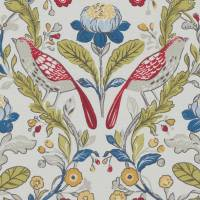 Orchard Birds Fabric - Rouge