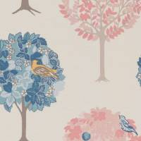 Sherwood Fabric - Teal/Blush