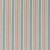 Mappleton Fabric - Denim/Red