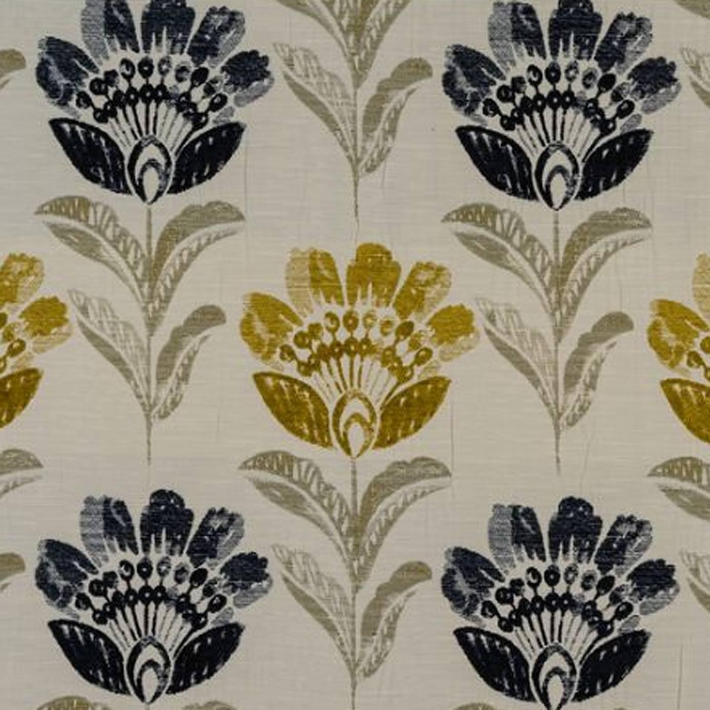 Indigo Bordeaux bordeaux fabric - indigo (psisla003) - porter & stone isla fabrics