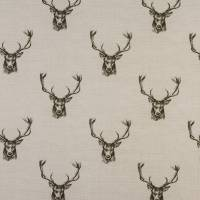 Stags Fabric - Charcoal