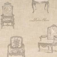 Vintage Chairs Fabric - Charcoal