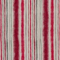 Garda Stripe Fabric - Cherry