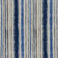 Garda Stripe Fabric - Indigo