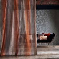 Stria Fabric - Amber/Pewter/Stone