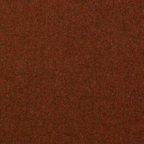 Abraham Moon & Sons Herringbone Wools  Aberdeen Fabric - Burnt Orange - U1105/3