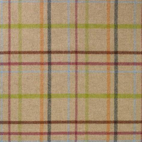 Abraham Moon & Sons The Dales Spring Collection Multicheck Fabric - Natural - U1347/A11