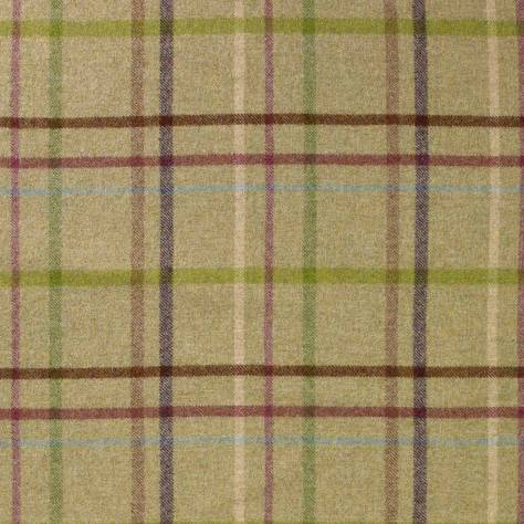 Abraham Moon & Sons The Dales Spring Collection Multicheck Fabric - Lime - U1347/F11