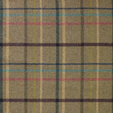 Abraham Moon & Sons The Dales Spring Collection Multicheck Fabric - Fawn - U1347/M06