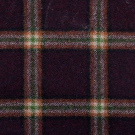 Abraham Moon & Sons The Dales Autumn Collection Settle Fabric - Wine - U1357/F05