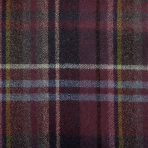 Abraham Moon & Sons The Dales Autumn Collection Hetton Fabric - Wine - U1360/F08