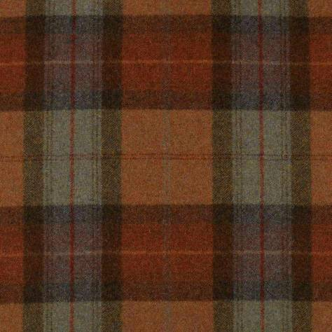 Abraham Moon & Sons Heritage Fabrics Skye Fabric - Burnt Orange - U1104/3
