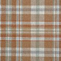 Glen Coe Fabric - Rust/Aqua