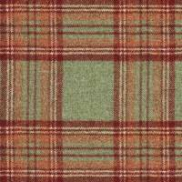 Killerton Fabric - Green / Red