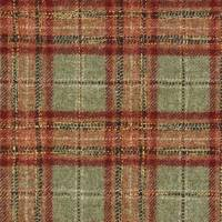 Montacute Fabric - Green / Red