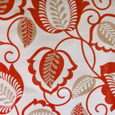 Bill Beaumont Esme Fabrics Esme Fabric - Red - ESMERED