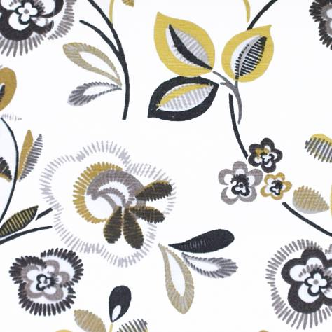 Bill Beaumont Purely Prints Fabrics Country Fair Fabric - Ochre - COUNTRYFAIROCHRE