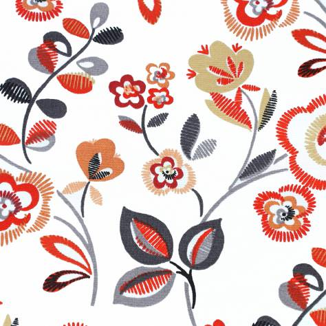 Bill Beaumont Purely Prints Fabrics Country Fair Fabric - Spice Red - COUNTRYFAIRSPICERED
