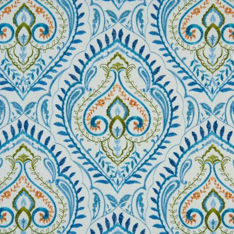 Bill Beaumont Marrakech Fabrics Arabesque Fabric - Teal - ARABESQUETEAL