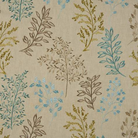 Bill Beaumont Marrakech Fabrics Juniper Fabric - Aquamarine - JUNIPERAQUAMARINE
