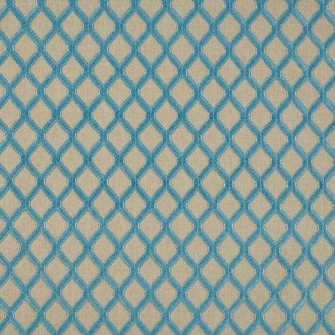 Bill Beaumont Marrakech Fabrics Mosaic Fabric - Aquamarine - MOSAICAQUAMARINE