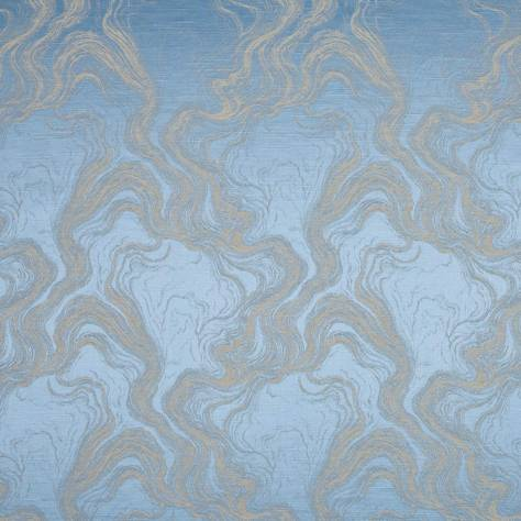 Bill Beaumont Opera Fabrics Cecilia Fabric - Coastal Blue - CECILIACOASTALBLUE