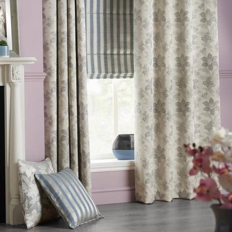 Bill Beaumont Austen Fabrics Willoughby Fabric - Ash - WILLOUGHBYASH