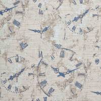 Clocks Fabric - Indigo
