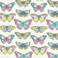 Butterfly Fabric - Turquoise/Pink