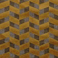 Sarabande Fabric - Jaune Or / Chataigne